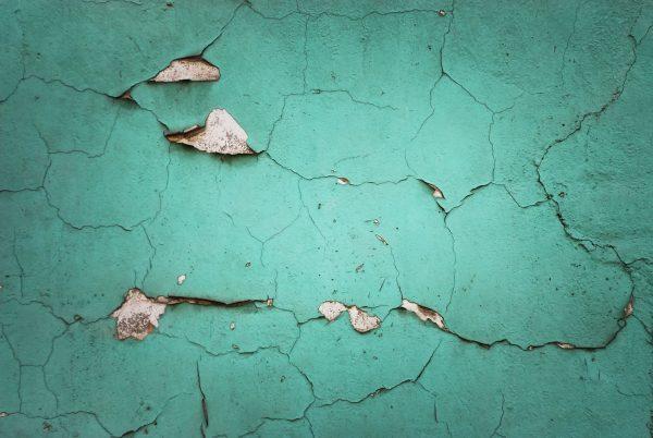 green obsolete wall