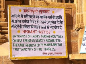 Sign in Jaisalmer, India