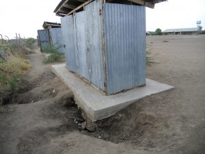 Public toilers in Kakuma refugee camp
