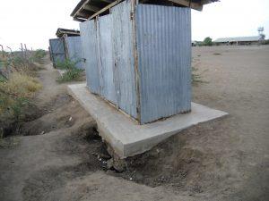 Public toilers in Kakuma refugee camp